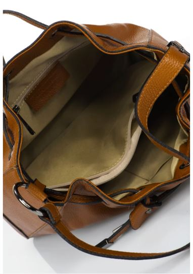 Italian Leather Markese Handbag Cognac