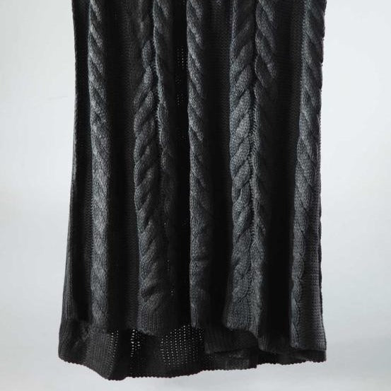 GUERNSEY Throw Charcoal