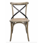 Vienna Elm Chair with Metal Cross