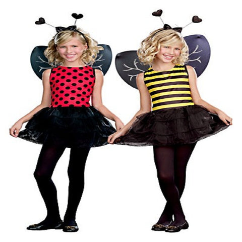costume includes antennae headband fully reversible bumble beelady bug dress detachable wings