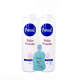 Pureen baby powder 2x525g free baby bath mild and gentle