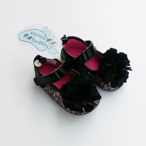 Girl's Stepping Stones Glitter with Flower shoes