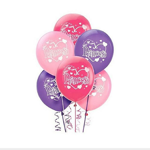 Latex Princess Birthday Balloons 12