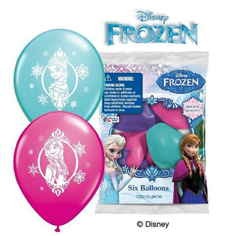 "Disney Frozen Printed 12"" Helium Quality Latex Balloons."