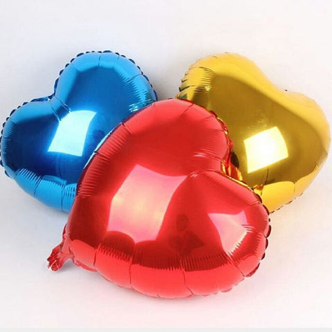 Foil Heart Shaped balloons 18 inch Aluminum with Helium