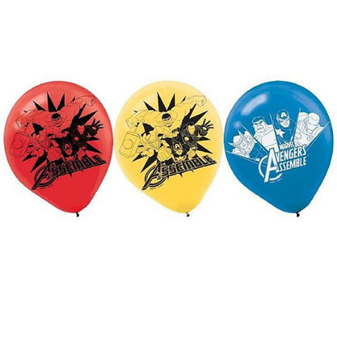 Avengers Latex Balloons Package contains 6 Avengers Balloons, each measuring 12inch