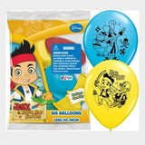 Disney's Jake & the Never Land Pirates Printed 12in Latex Balloons.