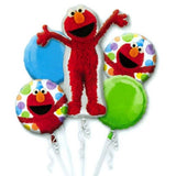 Elmo Style Happy Birthday Foil Balloon Bouquet