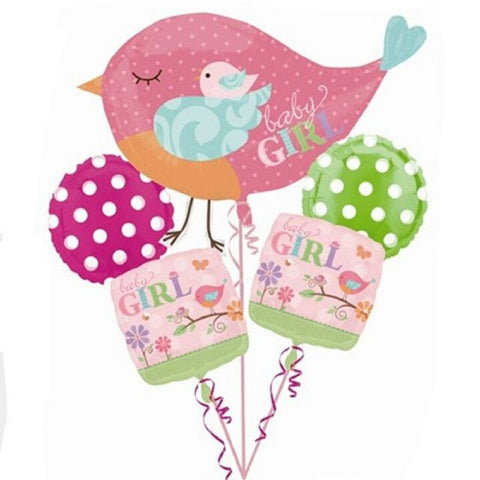 Tweet Baby Girl balloon bouquets