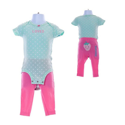 Girl's Carter's Strawberries Loved Bodysuit