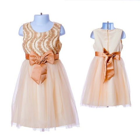 Flower Girl's Dress with Ribbon