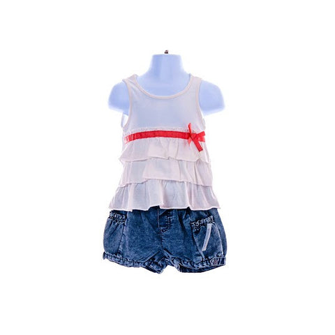 Girl's DKNY Sleeveless Top & Denim Shorts