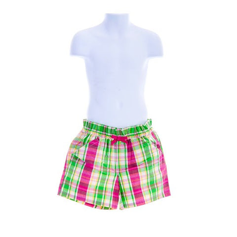 Girl's Gymboree Checked Shorts with Bow
