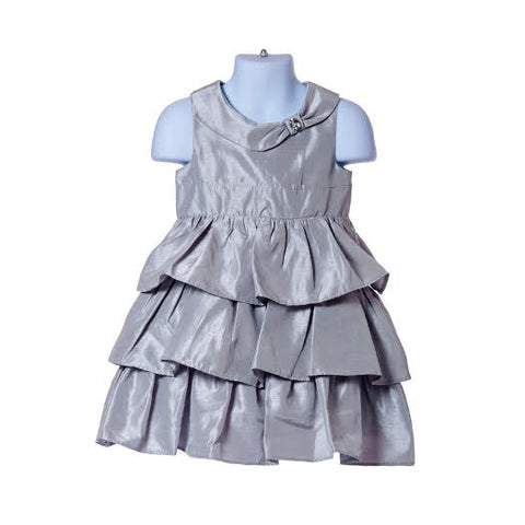 Gem Ruffle Duppioni Dress