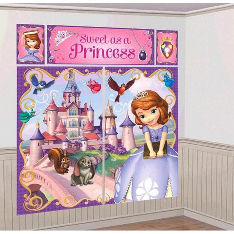Sofia the First Scene Setter Happy Birthday 6 Feet Tall Amscan