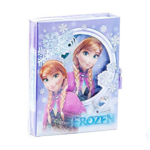 Frozen Anna and Olaf Diary Container Box + Diary Book (50 pages) + Lock + keys 2 units