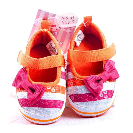 Girl S Stepping Stones Shoes With Bow Madison Kids
