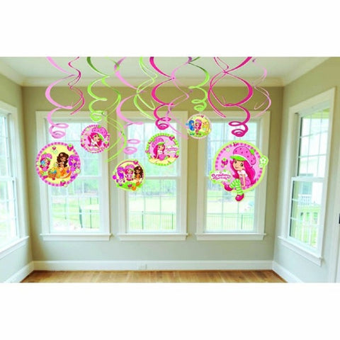 Strawberry Shortcake Swirl Decorations