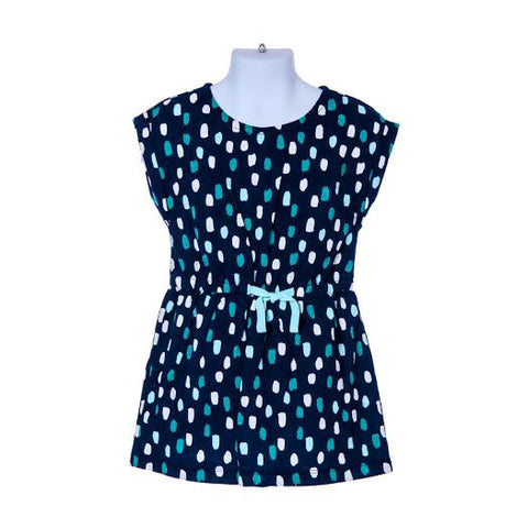 Girl's Gymboree Dotted Drawstring Dress