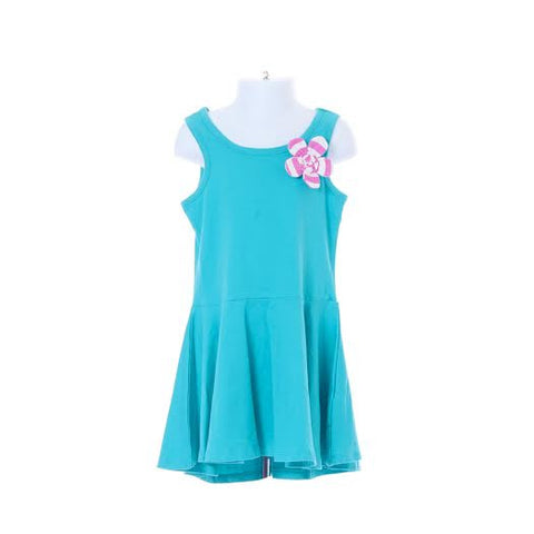 Girl's Maggie Zoe Plain Dress with Flower