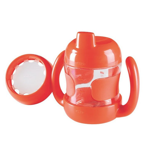 SIPPY CUP SET (7 OZ. W/ TRAINING LID) -ORANGE