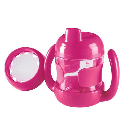 SIPPY CUP SET (7 OZ. W/ TRAINING LID) -PINK