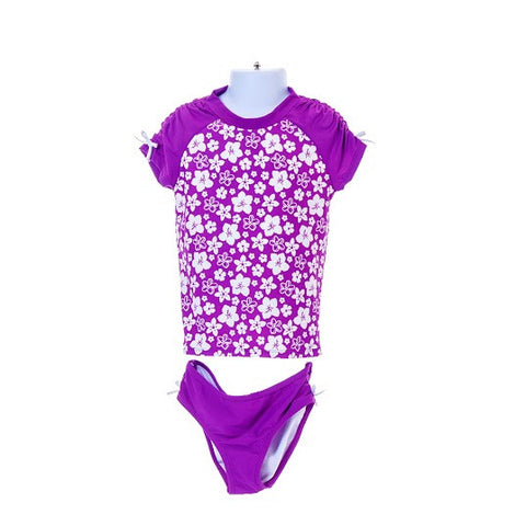 Girl's Gymboree Flower Print Swimwear