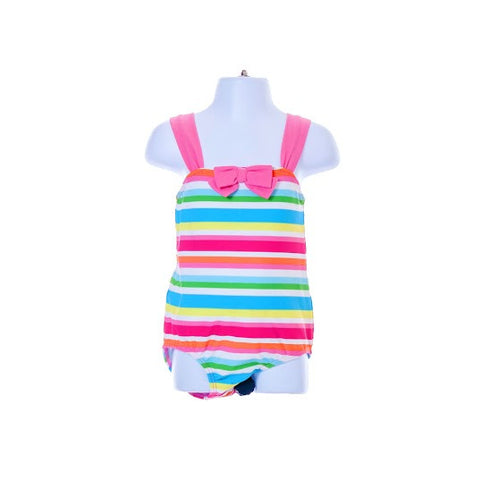 Multi Colour Striped With Bow Swimwear