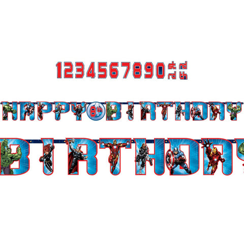 Marvel Avengers Assemble Happy Birthday Jumbo Letter Banner Kit