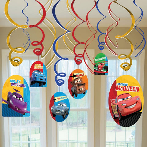 Disney Cars Swirl Decorations