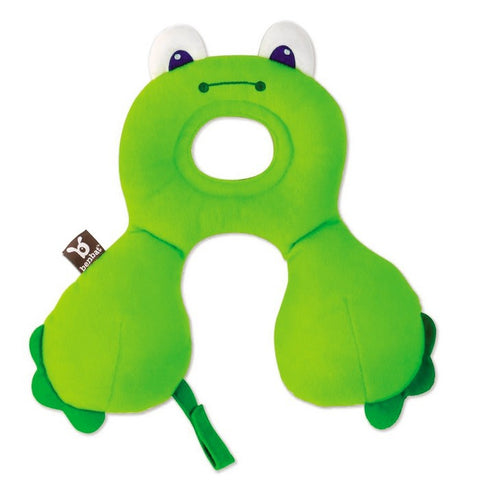 Travel Friends Total Support Headrest - 0-12m - Frog