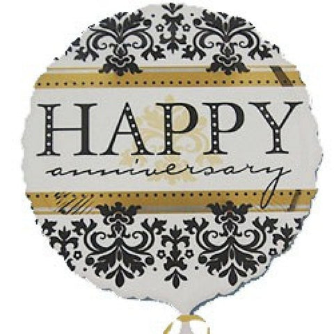 Happy Anniversary Damask Foil Balloon