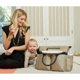 Chelsea Downtown Chic Diaper Satchel - Champagne
