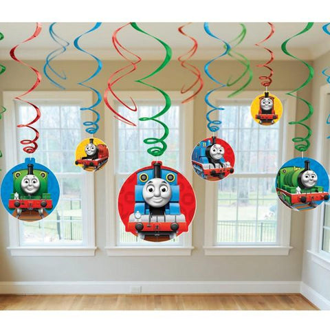 Thomas and Friends Swirl Decorations