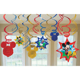 Disney Mickey Mouse Club House Swirl Decorations