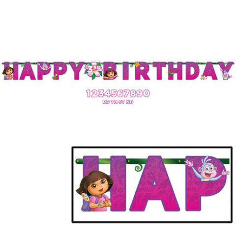 Dora The Explorer Happy Birthday Jumbo Banner Kit