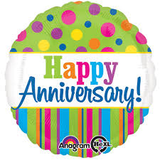 Happy Anniversary! Foil Balloon - Polka Dot