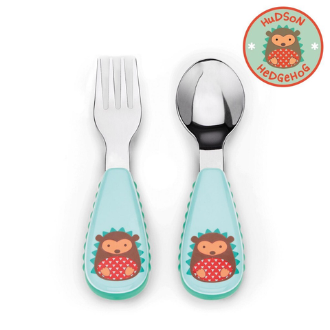 Zootensils Fork & Spoon - Hedgehog