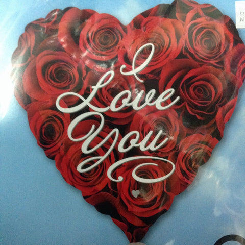I Love You Foil Balloon - Roses
