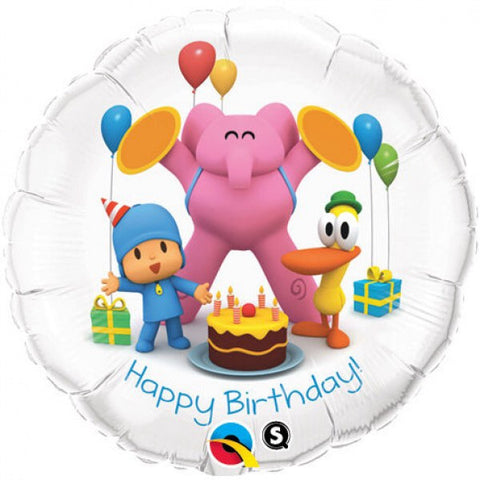 Pocoyo Happy Birthday Qualatex Bubbles