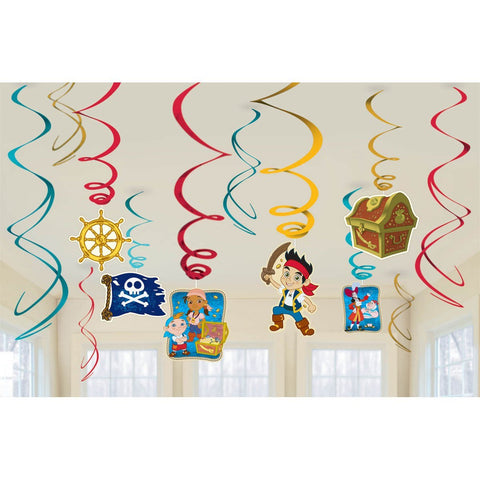 Jake and Neverland Swirl Decorations