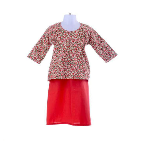 Girl's Little Flower Baju Kurung