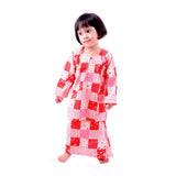 Girl's Red Paisley Baju Kurung