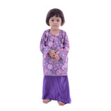 Girl's Purple Paisley Baju Kurung
