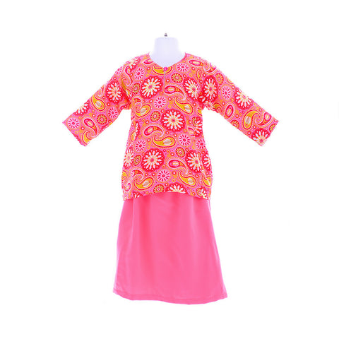 Girl's Print Flower Pink Paisley