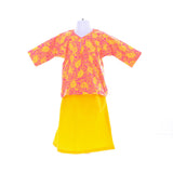 Girl's Striking Yellow Baju Kurung