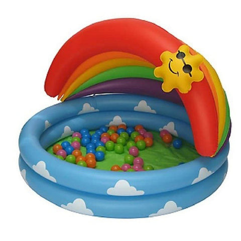 Paradise Inflatable Rainbow Water & Ball Poll