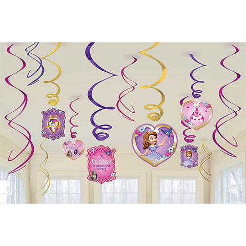 Sofia the FIrst Swirl Decorations