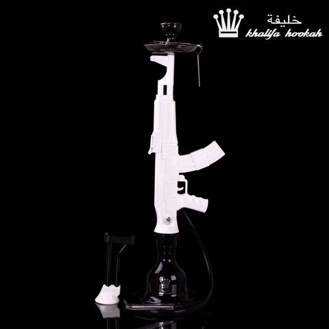 AK47 Hookah White Cartel Series