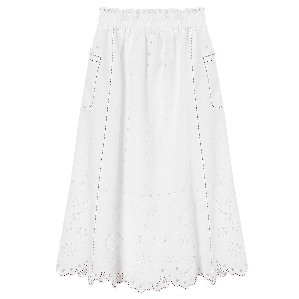 Charlotte Cut-Embroidered Skirt
